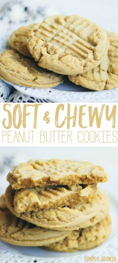 Soft and Chewy Peanut Butter Cookies will rock your world!