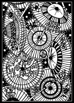 Japanese Stencil Designs Stained Glass Coloring Book