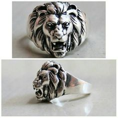 A classic sterling silver Lion head ring to remind you of your unfailing inner strength in all situations.   Be fearless, people!