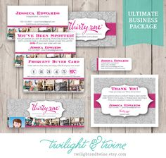 Thirty-one Ultimate Business Package ( Business Card, Label, Facebook Cover, Thank You ) by TwilightAndTwine on Etsy