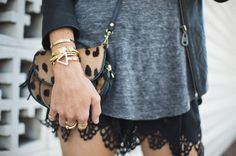 Bangles and a little leopard print today on the blog. @BaubleBar @jfisherjewelry @leatherdoma