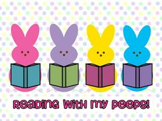 Smithville Elementary Library: Thought of the Day bulletin board easter spring rabbits bunnies