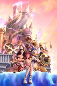 Kingdom Hearts   Square Enix   Disney Interactive Studios / Kingdom Hearts II Promotional Art