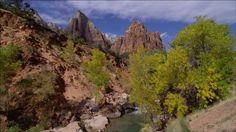 Virgin fiume utah | 4K Canyon / Parco Nazionale di Zion / Stati Uniti (Video clip in Stock ...