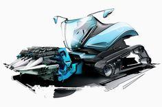 Combine Harvester, Sketch Photoshop, Vintage Tractors, Car Sketch, Sketch Design, Concept Cars, Cars And Motorcycles, Transportation, Sketches