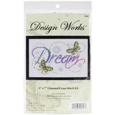Dream Counted Cross Stitch Kit - 5 X7 14 Count - Overstock™ Shopping - Big Discounts on Design Works Cross Stitch Kits