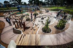 Dandenong Park Regional Playground by ASPECT Studios
