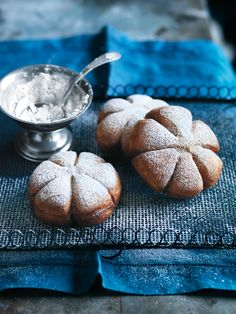 spiced snowflake doughnuts from donna hay