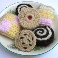 Crochet Pattern for CAKES COOKIES and BISCUITS £2.00