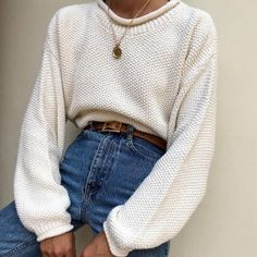 Waffled cotton thin link pendant necklace (available in jewelry section link Casual Outfits, Cute Outfits, Fashion Outfits, Womens Fashion, Style Fashion, Denim Fashion, Boho Fashion, Fall Winter Outfits, Autumn Winter Fashion