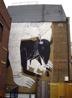 Examples Of Amazing Street Art From Around The World Best Street Art, Amazing Street Art, Stencil, Street Art Banksy, Farm Art, Graffiti Murals, Environmental Art, Street Artists, Public Art