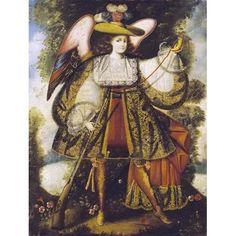 Arcangel Con Arcabuz by Cuzco School Angels Art Print