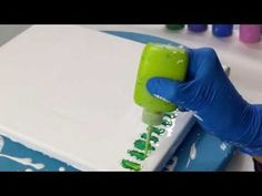 """Acrylic Pouring """"Underwater Ocean View"""" - YouTube"""