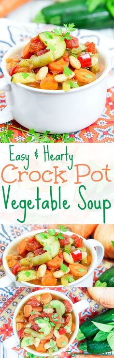 Easy Healthy Hearty Crock Pot Vegetable Soup Recipe The Best Clean Eating