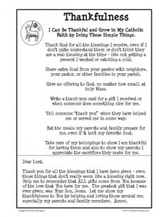 Virtue Lesson on Thankfulness   Religious Education Resources for Teachers