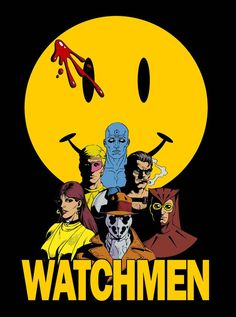 Watchmen by DanielBrandao on DeviantArt Comic Book Superheroes, Comic Books Art, Comic Art, Black Background Wallpaper, Deadman Wonderland, Detective Comics, American Comics, Cultura Pop, Cool Ideas