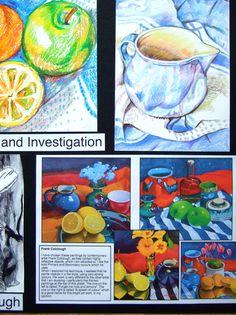 Picture A Level Art Sketchbook, Sketchbook Layout, Student Art Guide, Advanced Higher Art, Van Gogh Art, Art Folder, Art Courses, Expressive Art, High Art
