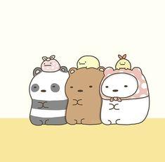 Wallpaper Kawaii, Bear Wallpaper, Cute Disney Wallpaper, Cute Cartoon Wallpapers, Cute Animal Drawings Kawaii, Cute Disney Drawings, Kawaii Drawings, Cute Drawings, Ice Bear We Bare Bears