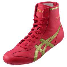 Scarlet/Metallic Gold ASICS The Gable™ Wrestling Shoes
