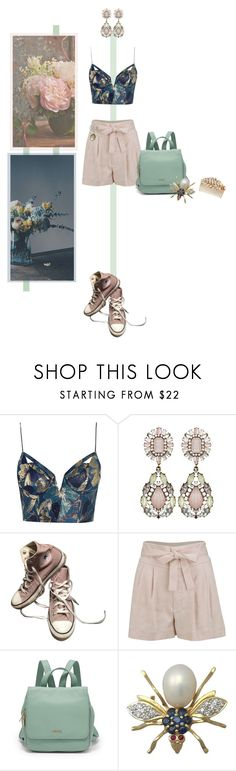 """""""#253"""" by valentine-bk ❤ liked on Polyvore featuring Zimmermann, Converse, Marc by Marc Jacobs, FOSSIL, Vintage Collection and Miriam Haskell"""
