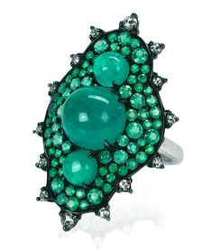 Emerald ring by Nam Cho