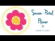 Seven-Petal #Flower in #Crochet (1) | #PatronesValhallaENG