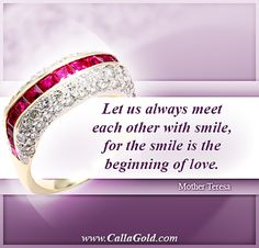 Gems of Wisdom: Mother Teresa Quote. - Calla Gold Jewelry