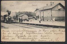Old railway station. Vuoksenniska, Imatra, Finland