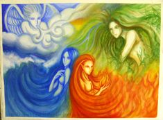 The Four Elements Fan Art: the 4 elements Earth Air Fire Water, Earth Wind & Fire, Elements Of Nature, Elements Of Art, Fire Art, Water Element, Book Of Shadows, Oeuvre D'art, Wicca