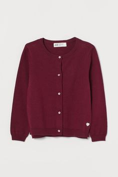 Fine-knit cotton cardigan - Dark red - Kids | H&M GB 2 World Of Fashion, Fashion Online, Kids Fashion, Cotton Cardigan, Knit Cardigan, Khaki Green, Yellow, Fashion Company, Dark Red