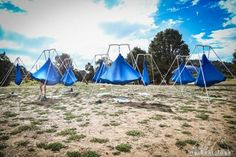 Outdoor aerial rigs for purchase from AIReal Yoga, the first and only form of aerial  yoga accredited by the yoga alliance.