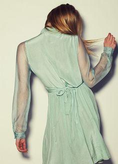Romantic Kinoak Mint dress.  Photo © Dean Podmore & Russhmagazine.