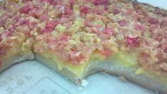Rhubarb dream bars!!! Try the filling for rhubarb custard cream pie even better! :-)