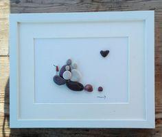 Pebble art Family3 Family3 gift Wedding gift by pebbleartSmiljana