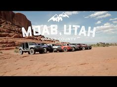 "Let the trail-riding adventurers of the 2015 Moab Jeep Safari show you the ropes and get your blood pumping with ""the craziest adrenaline rush one can get at. Moab Jeep, Easter Jeep Safari, Car Videos, Jeep Life, Jeeps, Offroad, Utah, Stuff To Do, Waiting"
