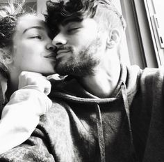 @riddhisinghal6/ zayn malik and gigi hadid, elegant romance, cute couple, relationship goals, prom, kiss, love, tumblr, grunge, hipster, aesthetic, boyfriend, girlfriend, teen couple, young love, hug image