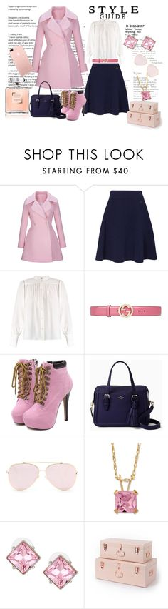 """""""Untitled #127"""" by thifaf-darwish ❤ liked on Polyvore featuring WithChic, Kenzo, Frame, Gucci, Kate Spade, Palm Beach Jewelry and Kenneth Jay Lane"""