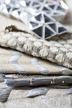 Contemporary Weaving - woven textiles design with mixed surface patterns & textures  Sarah Poley