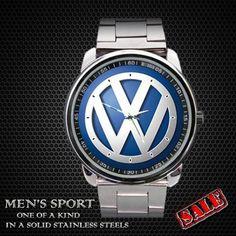 Volkswagen Golf Logo Sport Metal Watch by sadamtololsain on Etsy, $13.00
