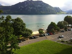 View from Hotel Park in Weggis, Switzerland - a small and super clean little town. July 2012 Photo by Rosangela Braganca