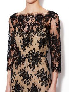 Lace Boatneck Dress from Oscar de la Renta