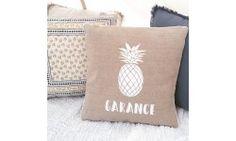 Coussin Ananas en Lin - Création Francaise Lucy Jeanne Collection - Décoration de Mariage