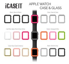 Apple Watch Case & Glass 38mm (Pack of 3)   Hot Pink, Baby Pink & Pure White