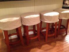 Bar stool slipcovers