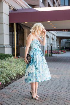 Poor Little It Girl - Blue Floral Party Dress @poorlilitgirl