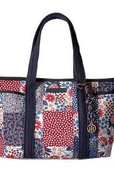 565441686b Tommy Hilfiger Dariana Patchwork Tote (Red Multi) Tote Handbags - Tommy  Hilfiger