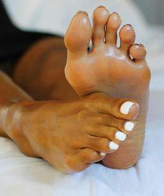 Cute Toes, Pretty Toes, Toe Nails White, Pretty Ebony, White Pedicure, Wow Nails, Soft Feet, Beautiful Toes, Socks And Heels