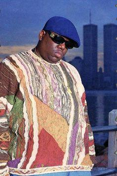 Coogi sweater/who wore it better hip hop, big men fashion, Biggie Smalls, 2pac, Christopher George, Arte Do Hip Hop, Hip Hop Art, Richard Avedon, Tupac And Biggie, Mode Hip Hop, Hip Hop Classics