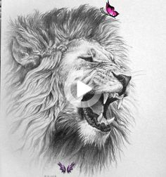 I love lions. Well... the male ones. They have the manes.                                                                                                                                                     More<br> Lion Chest Tattoo, Lion Head Tattoos, Mens Lion Tattoo, Hand Tattoos, Tattoo Women, Lion Tattoo Design, Tattoo Design Drawings, Cool Drawings, Tattoo Designs