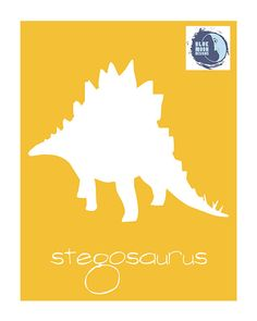"8x10 Modern Silhouette ""Stegosaurus"" Print - from the Dinosaur Collection"